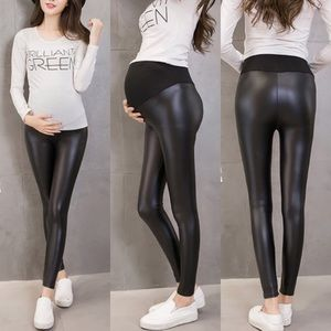 Faux Leather Maternity Leggings NWOT
